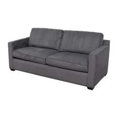 Crate And Barrel Davis Sofa Leather Best Value Sectional 57 Off Grey