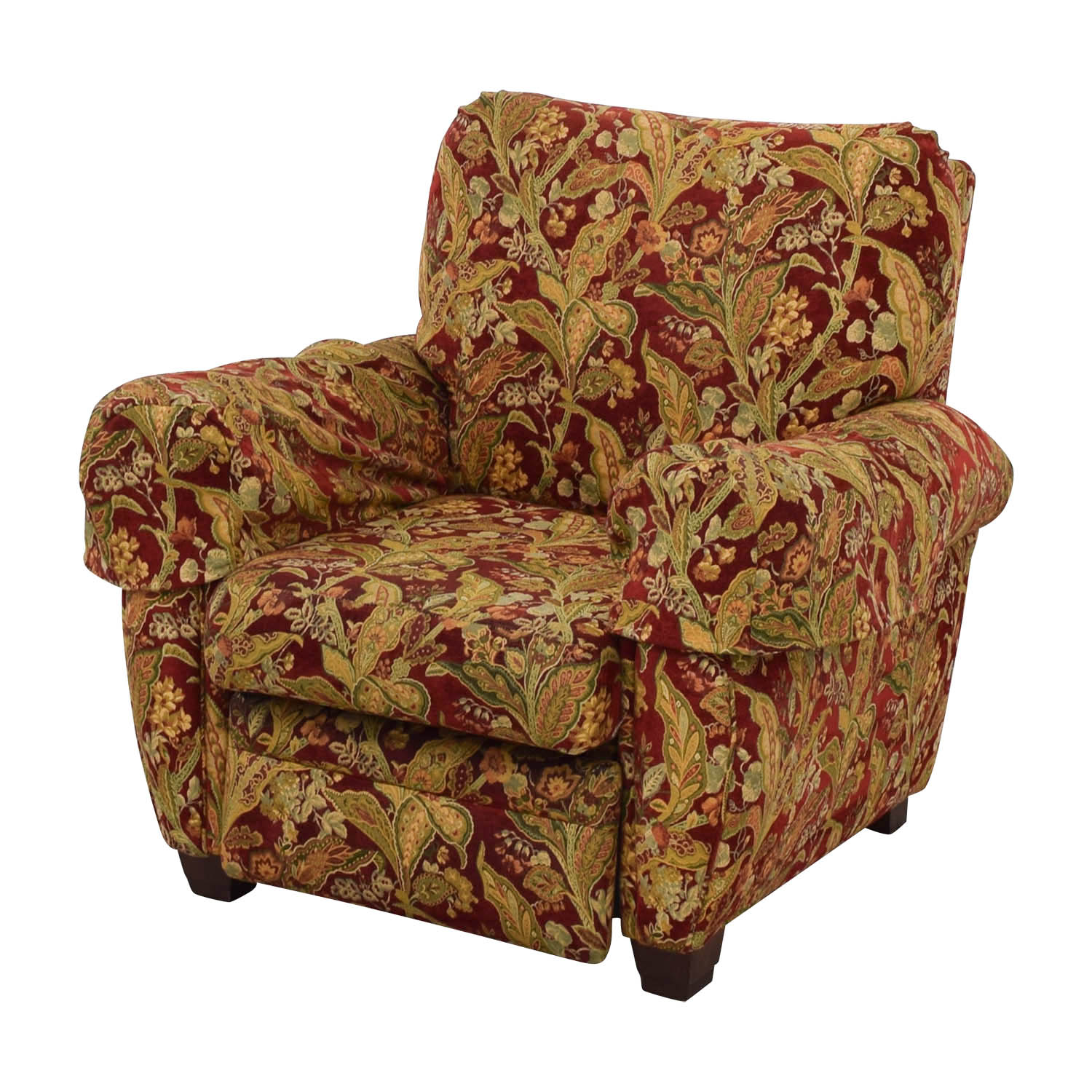 lazy boy chairs for sale bean bag chair lounger 84 off burgundy floral recliner