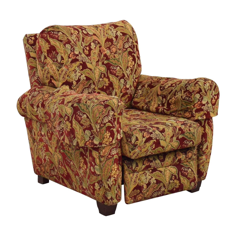 84 OFF  Lazy Boy Lazy Boy Burgundy Floral Recliner  Chairs