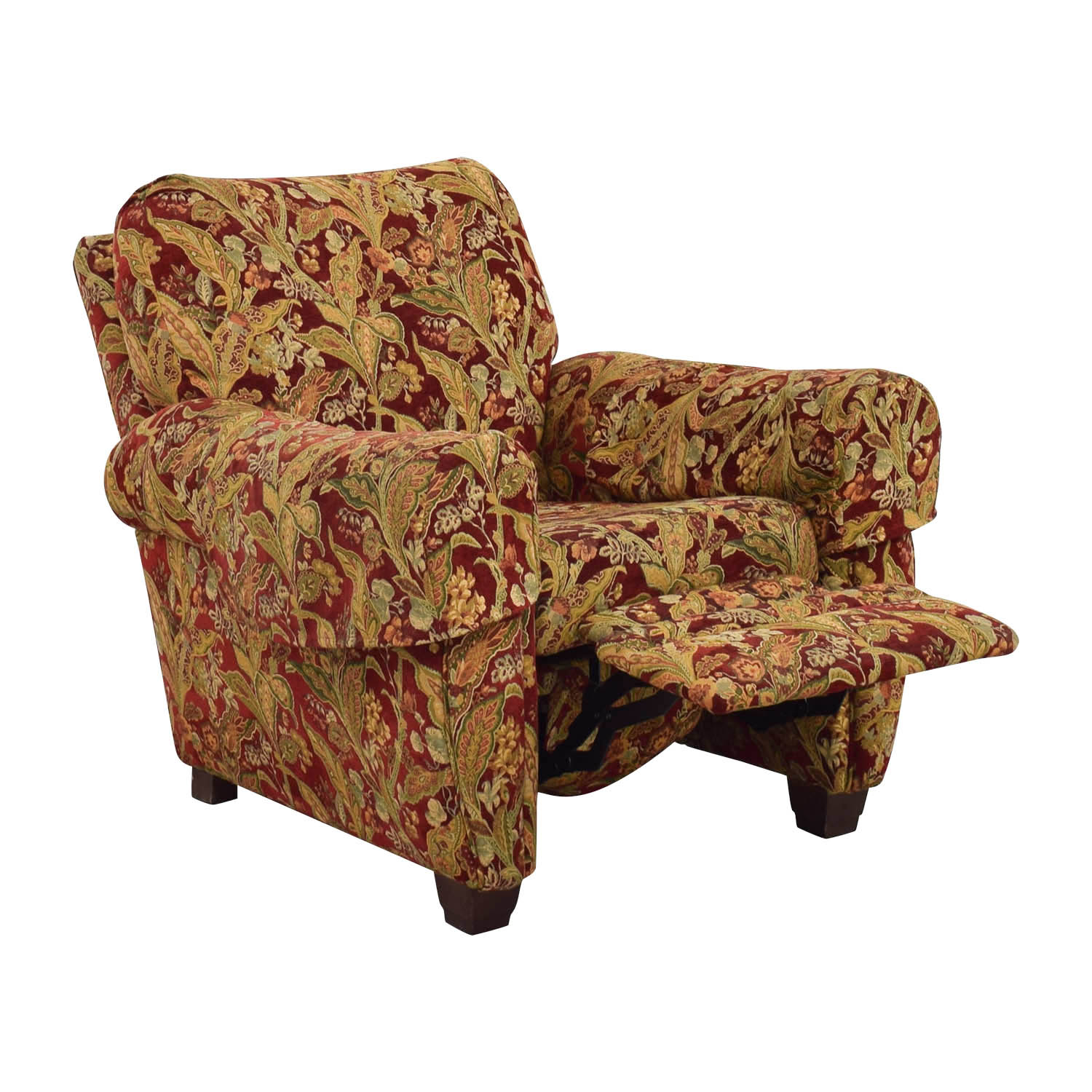 Lazy Boy Swivel Chair 84 Off Lazy Boy Lazy Boy Burgundy Floral Recliner Chairs