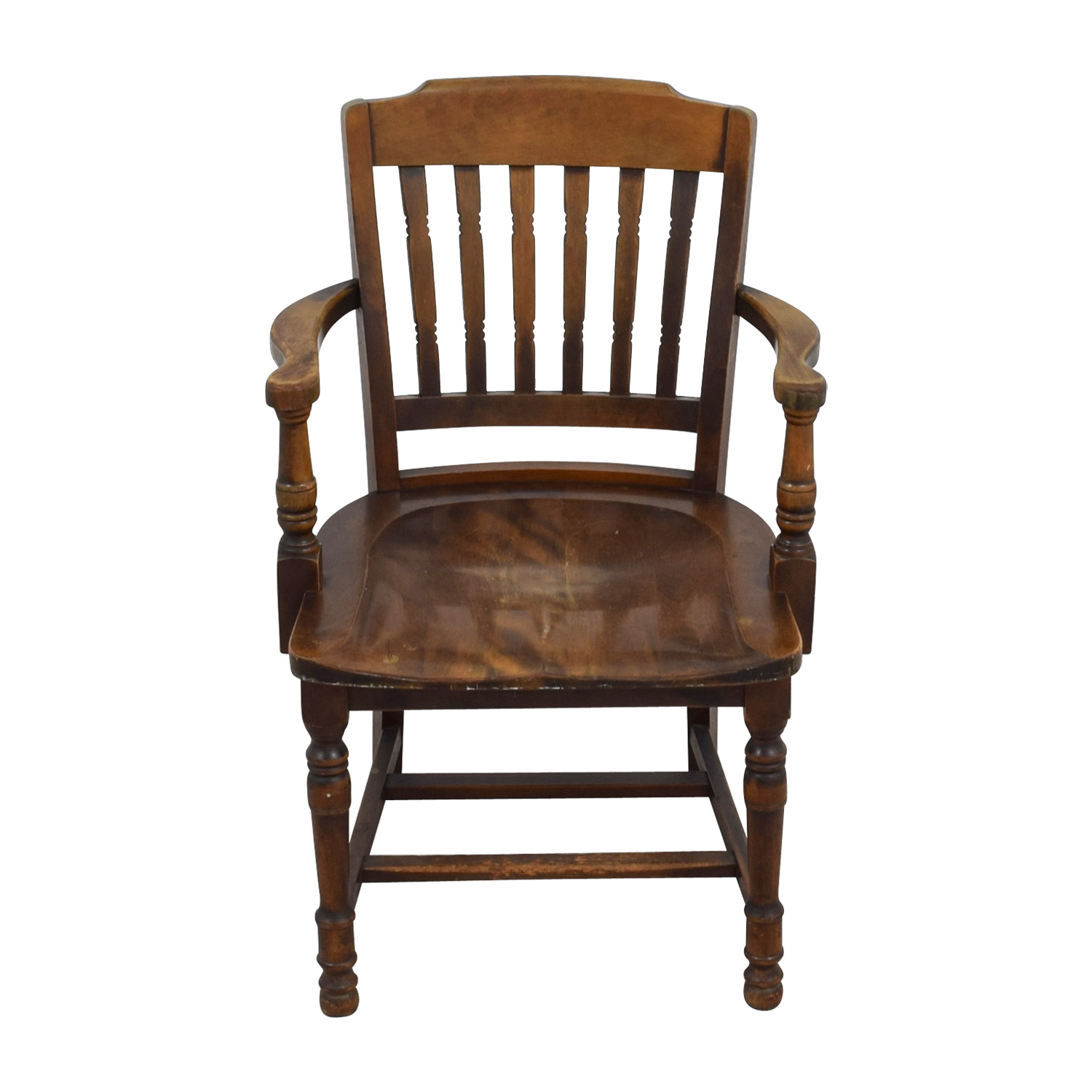 88 OFF  Antique Wood Spindel Chair  Chairs