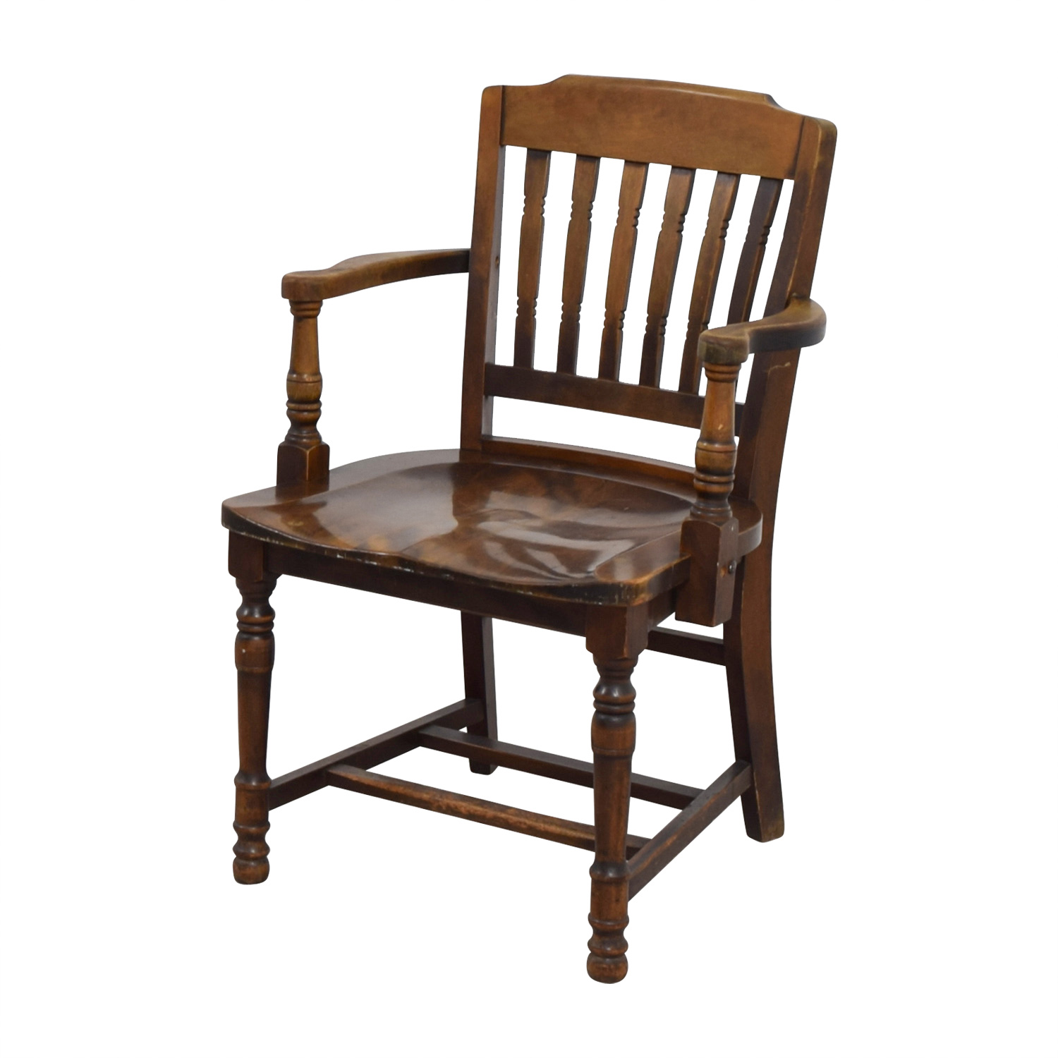 wood hand chair childrens lawn chairs 2 88 off antique spindel