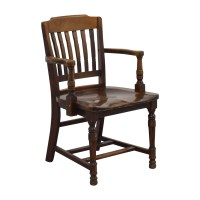 88% OFF - Antique Wood Spindel Chair / Chairs