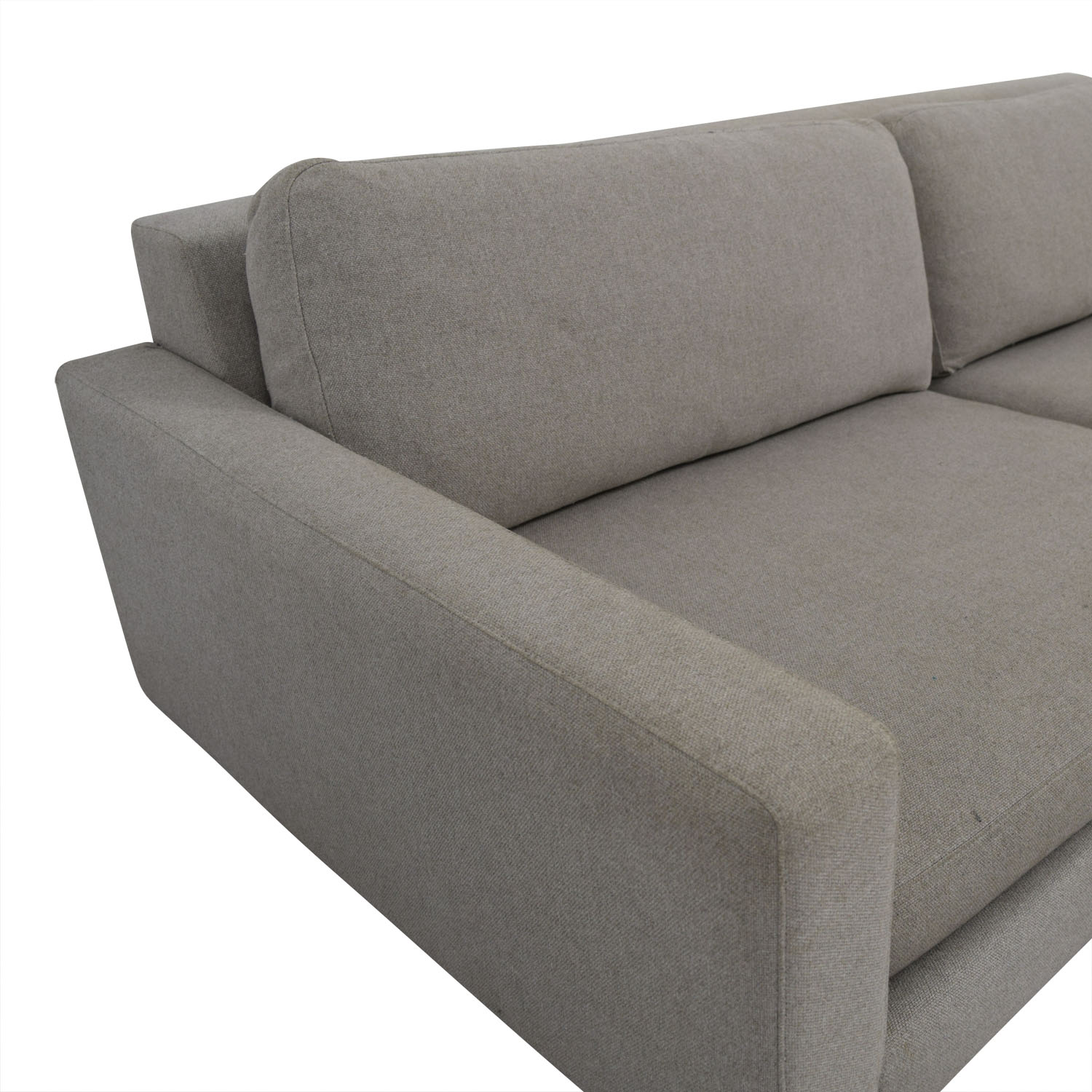 room and board hess sofa review con chaise longue baratos 88 off beige two cushion