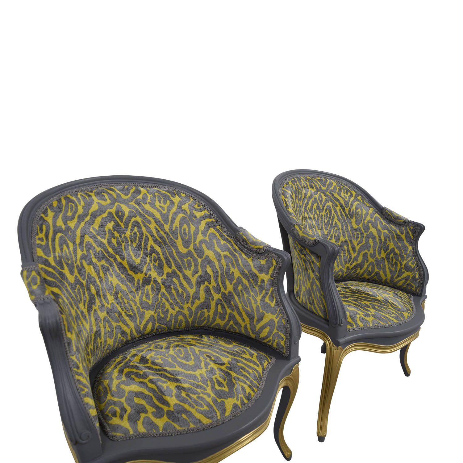 Yellow And Grey Accent Chair 90 Off Country French Grey And Yellow Accent Chairs
