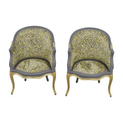 Gray And Yellow Accent Chair Eddie Bauer Rocking 90 Off Country French Grey Chairs