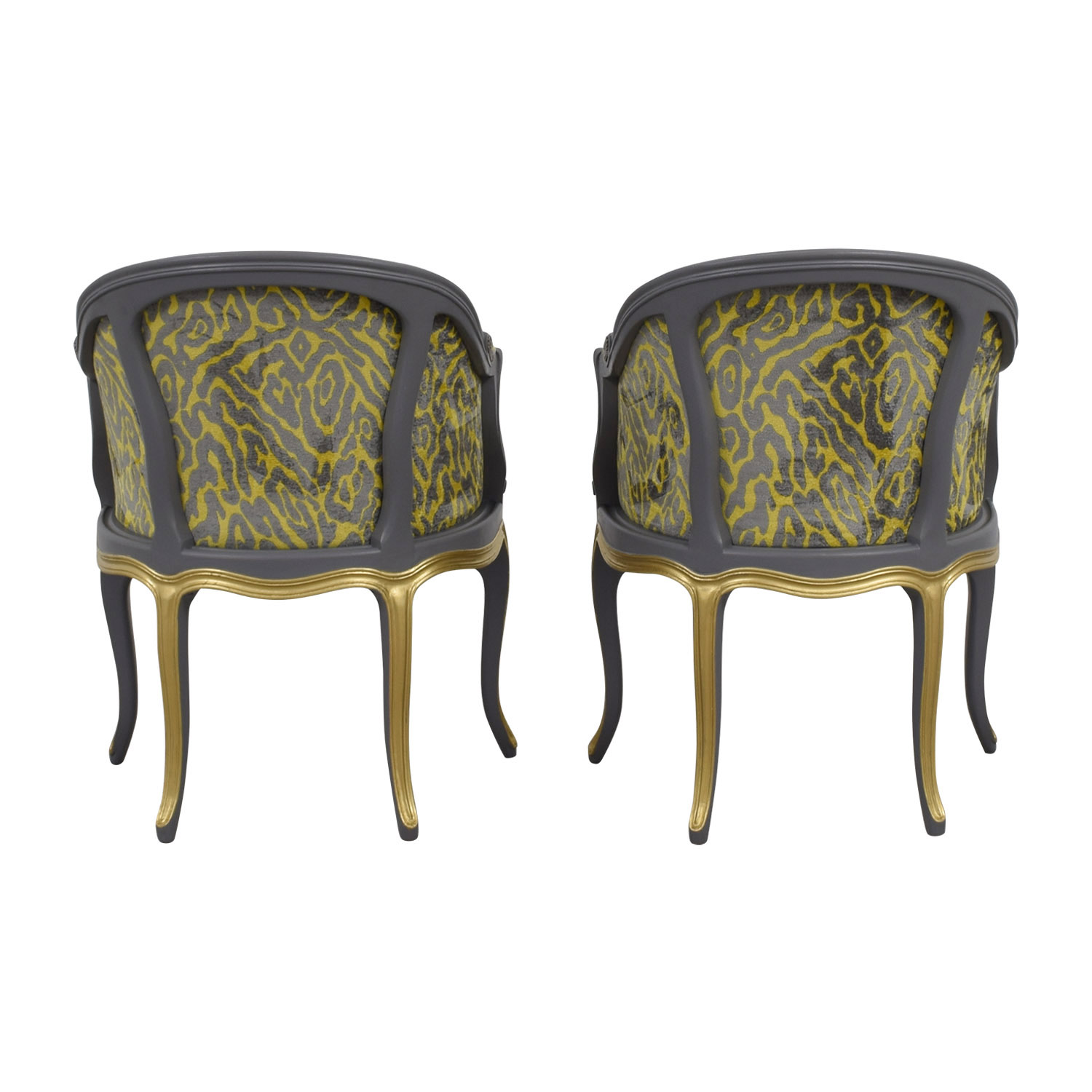 Yellow And Grey Accent Chair Chairs Used Chairs For Sale