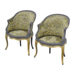 Gray And Yellow Accent Chair 2 Chairs Table Set 90 Off Country French Grey