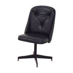 Black Leather Desk Chairs Pub Height Table And 62 Off Swivel Office Chair