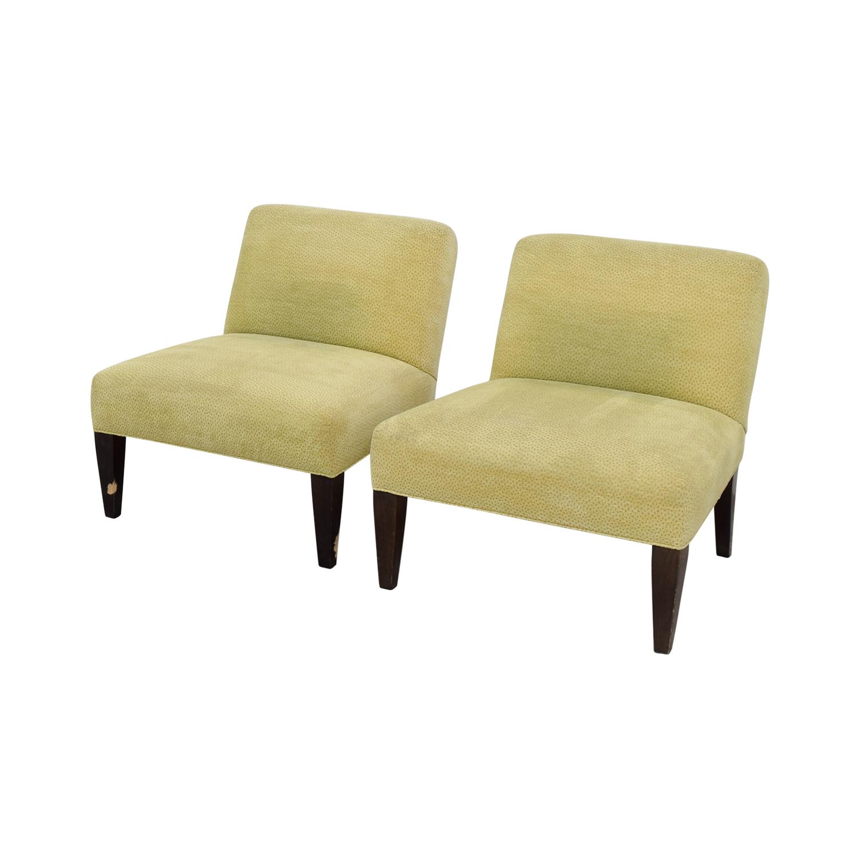 yellow club chair covers ivory wedding 90 off custom chairs