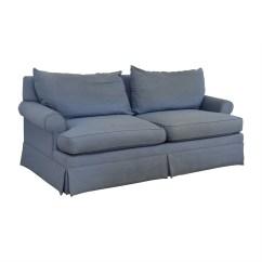 Sure Fit Stretch Stripe 2 Piece T Cushion Sofa Slipcover Small Semi Circular