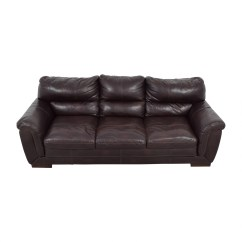 Cb2 Club Leather Sofa 6 Piece Modular Sectional Costco Cushion 84 Off Brown Three