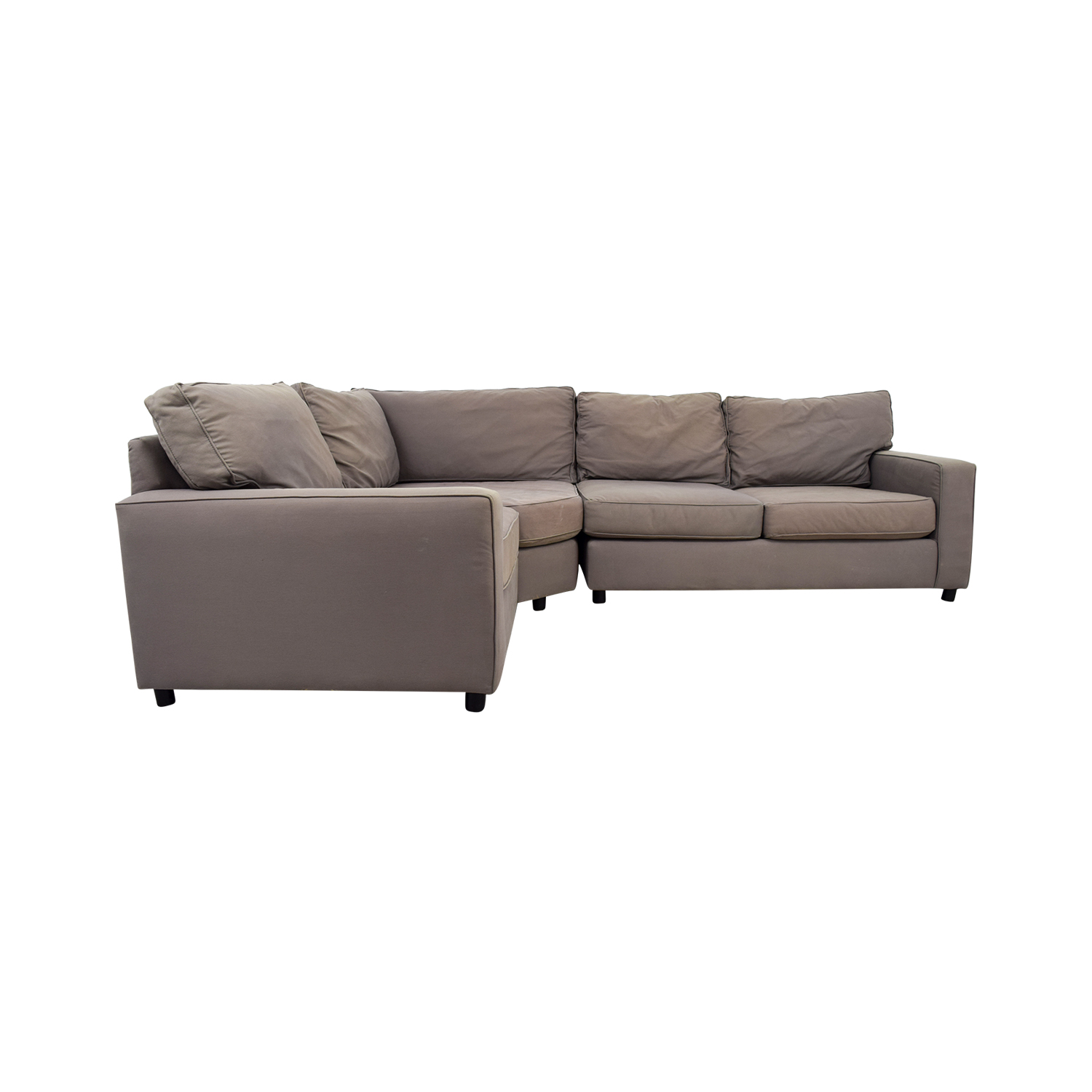 pottery barn leather sofa quality black nailhead trim used sectional sofas sectionals for thesofa