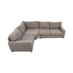 Pottery Barn Chaise Sofa Sectional Ashley Montgomery Mocha And Loveseat Sectionals Used For Sale