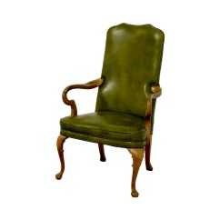 Revolving Chair Second Hand Italian Leather Chairs Dining 90 Off Green Studded Regency
