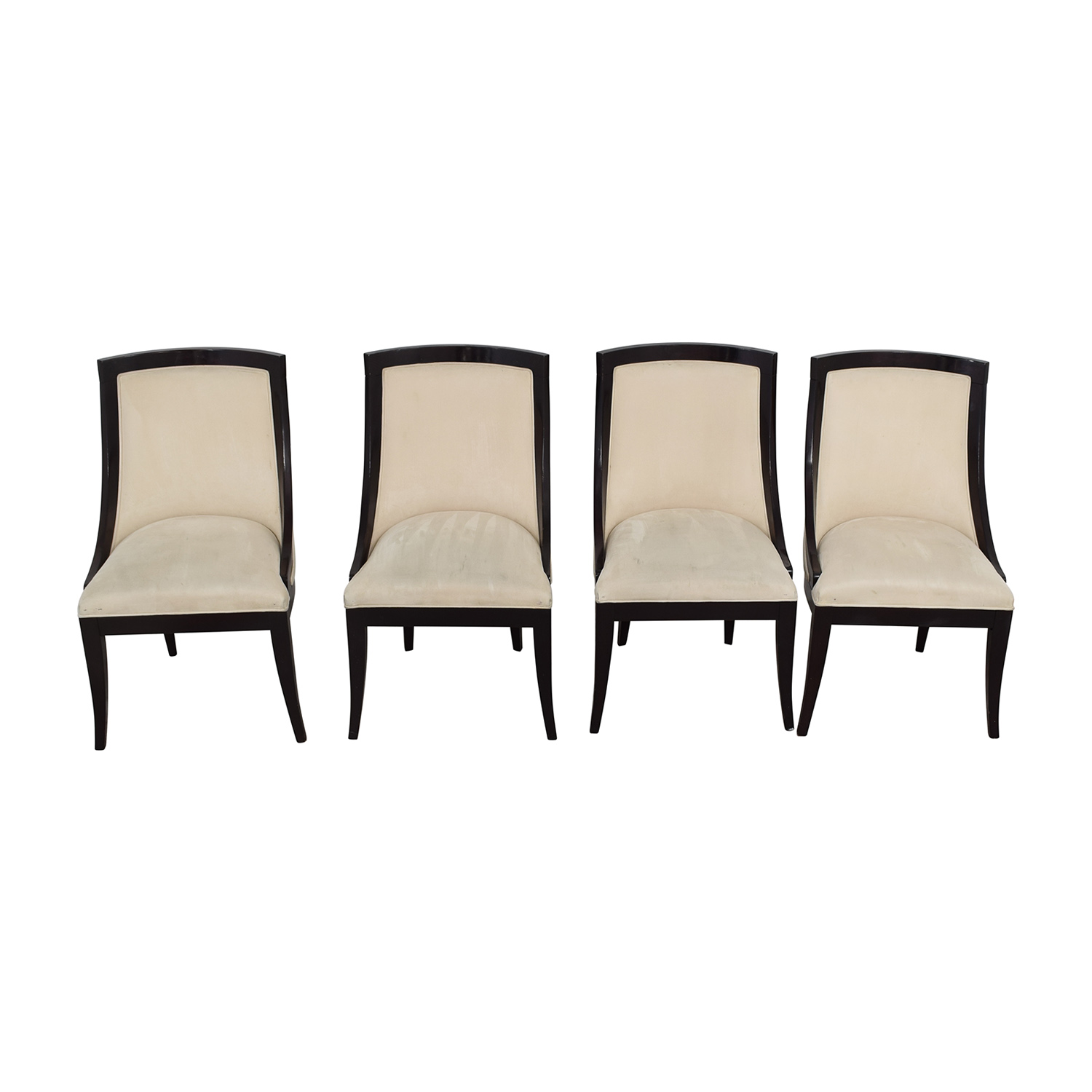 cream upholstered dining chairs vanity chair white 70 off restoration hardware