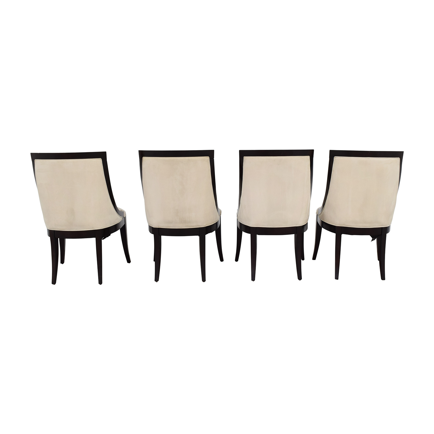 cream upholstered dining chairs porch rocking black 70 off restoration hardware