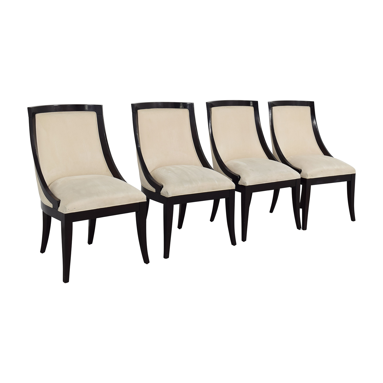 cream upholstered dining chairs oversized camping 70 off restoration hardware