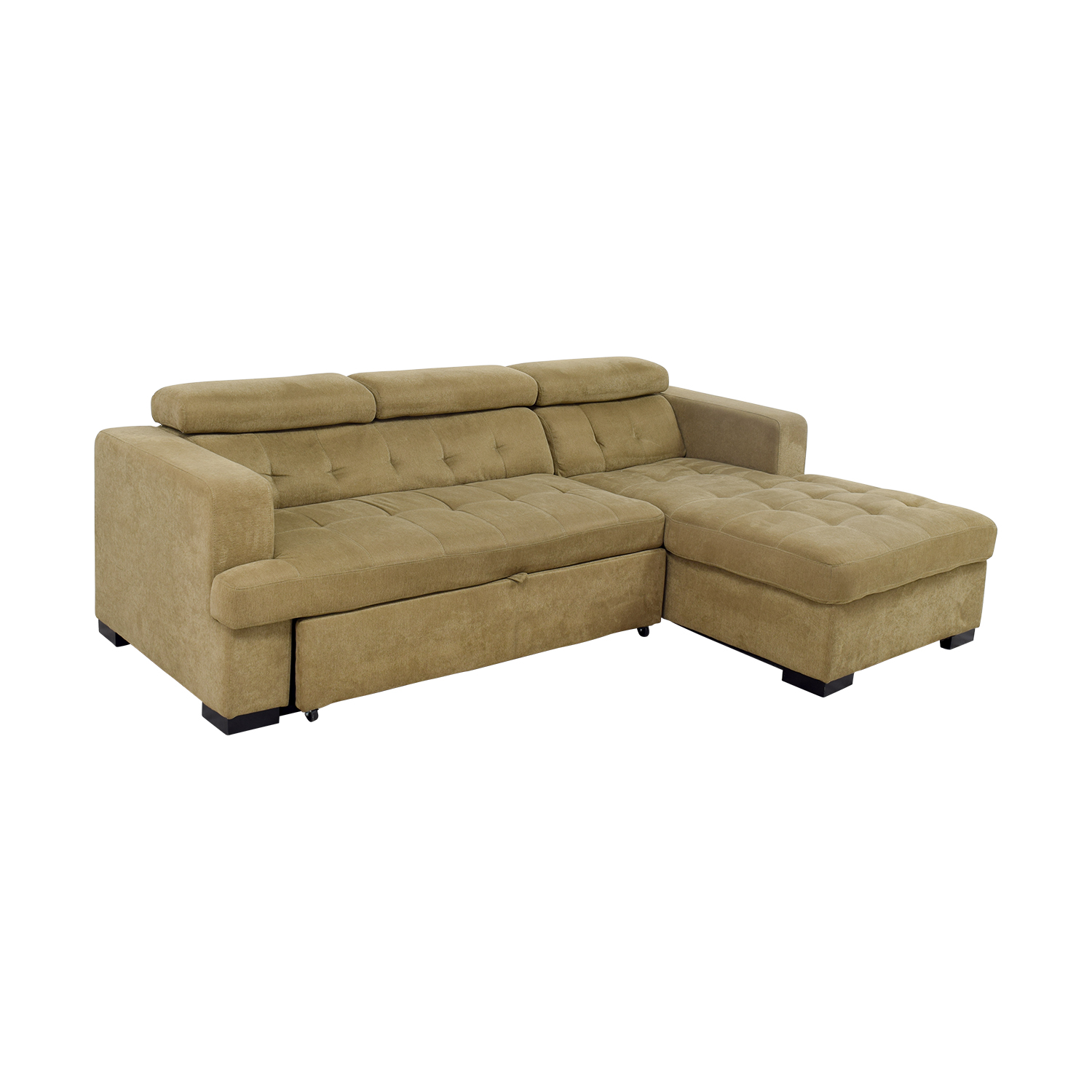 bobs furniture sleeper sofa single set designs 59 off bob 39s gold chaise