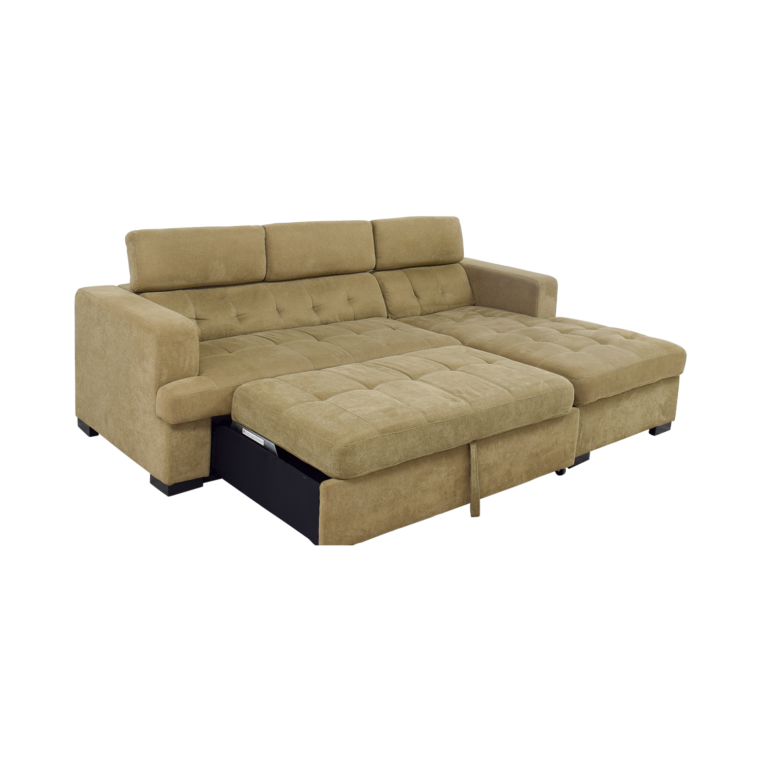 bobs furniture sleeper sofa chair singapore 59 off bob 39s gold chaise