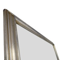 66% OFF - Silver Leaf Frame Wall Mirror / Decor