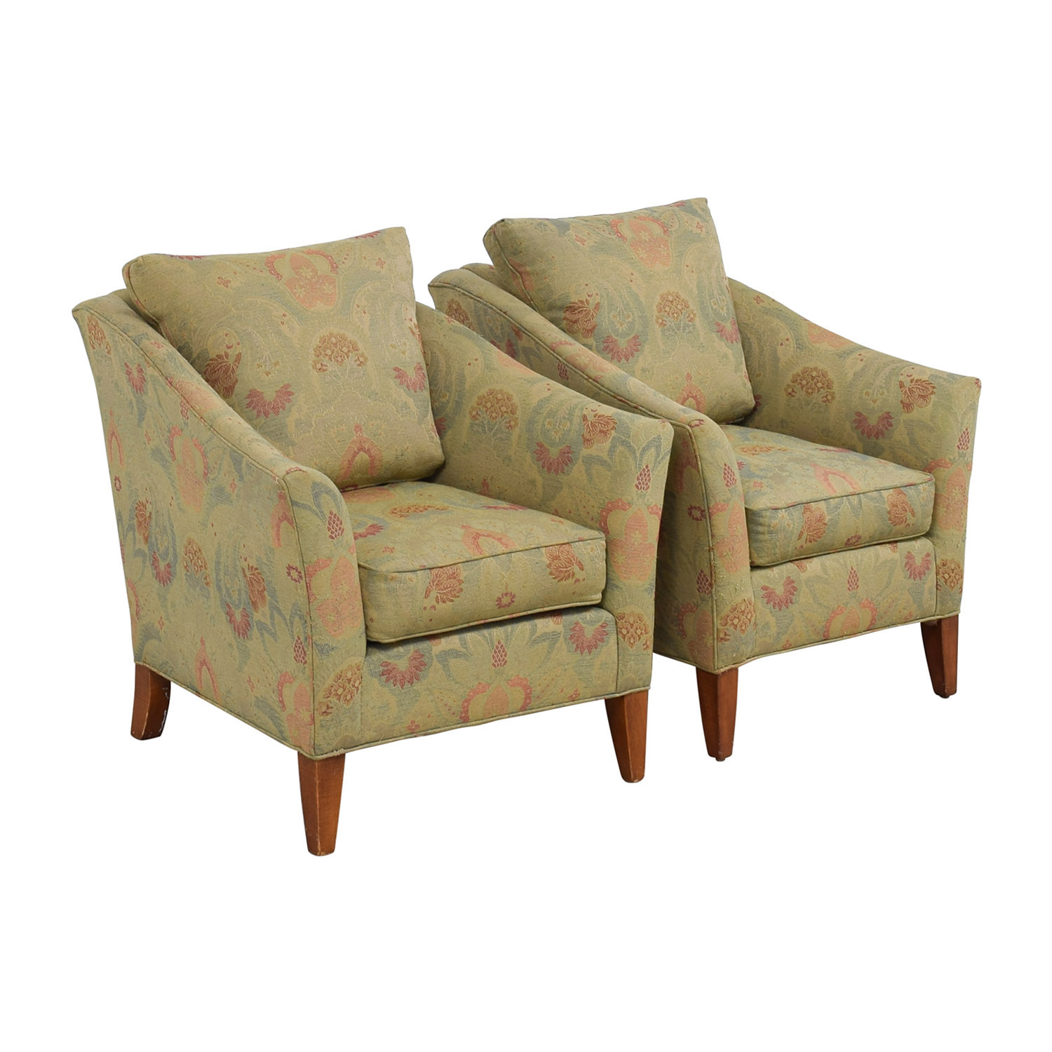 ethan allen recliners chairs tripod chair with back 90 off gibson floral