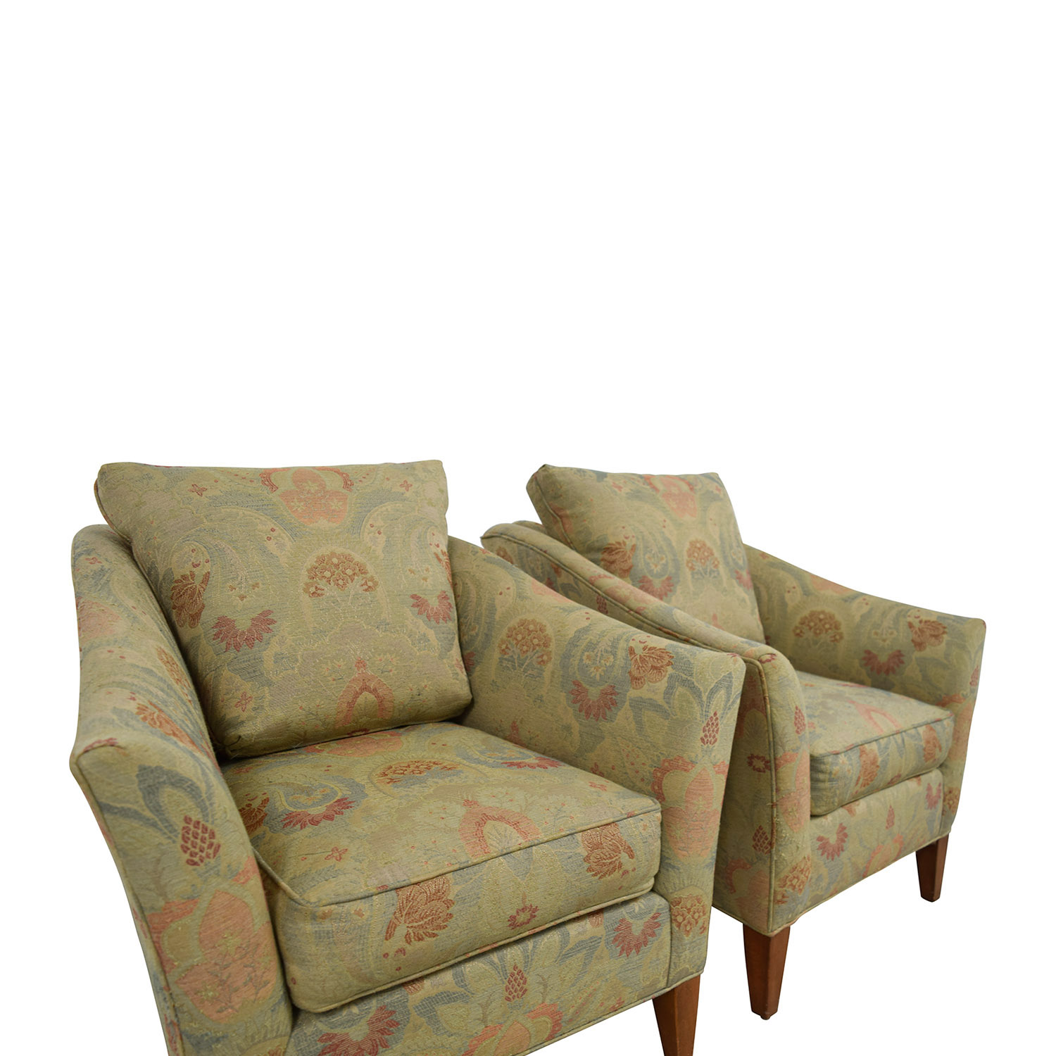 ethan allen recliners chairs exercise while sitting in office chair 90 off gibson floral