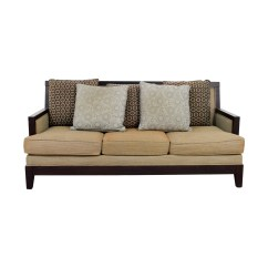 Wooden Sectional Sofa Abbie By England Wood Framed Sofas Portside Gray Finish Two Cushion