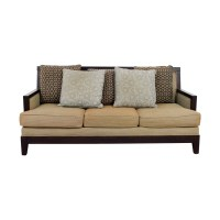 Wood Frame Sofas With Cushions