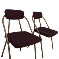 68% OFF - 1960's Purple Folding Metal Chairs / Chairs