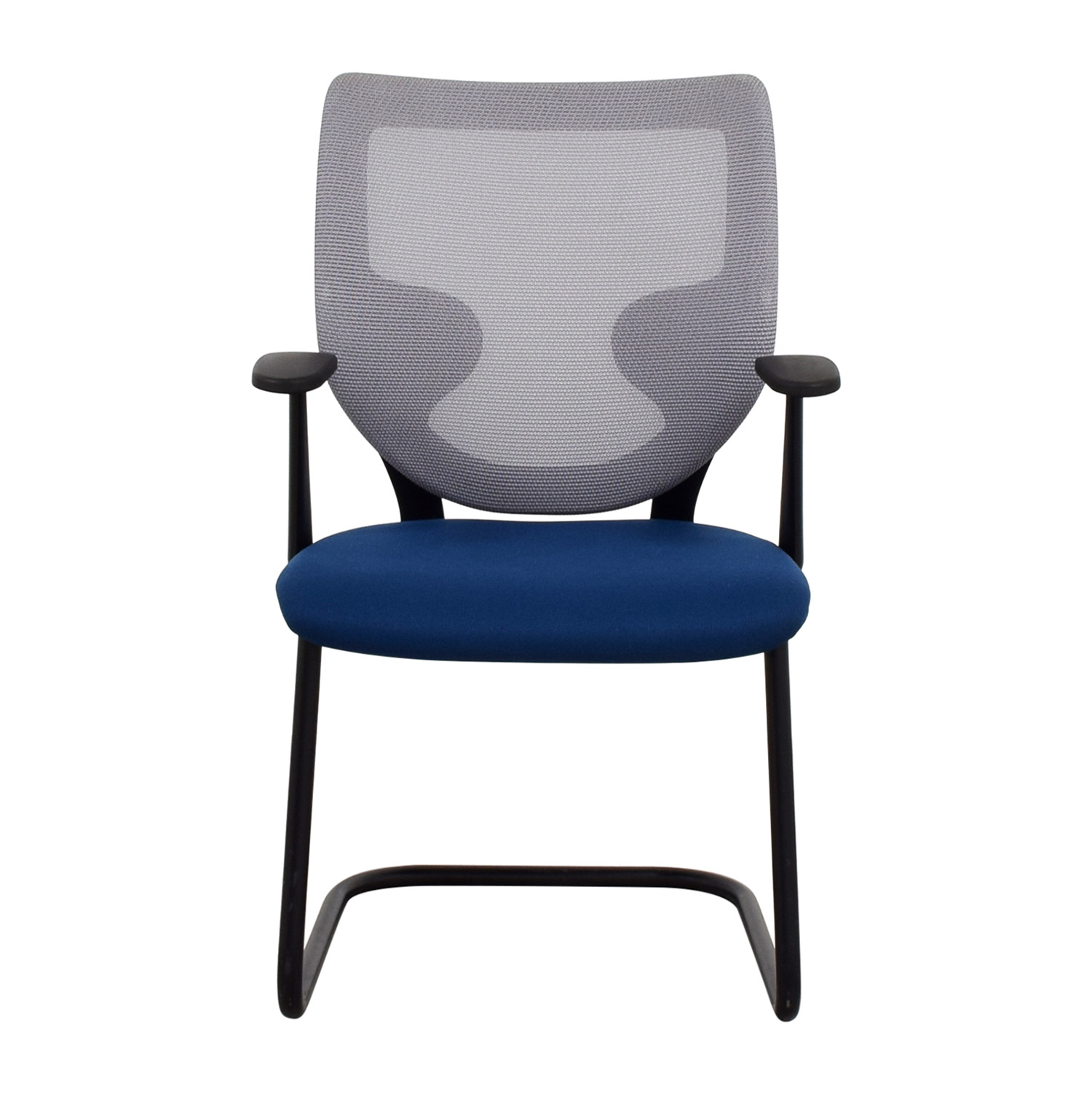 chair mesh stool banquet covers white 90 off keilhauer blue chairs