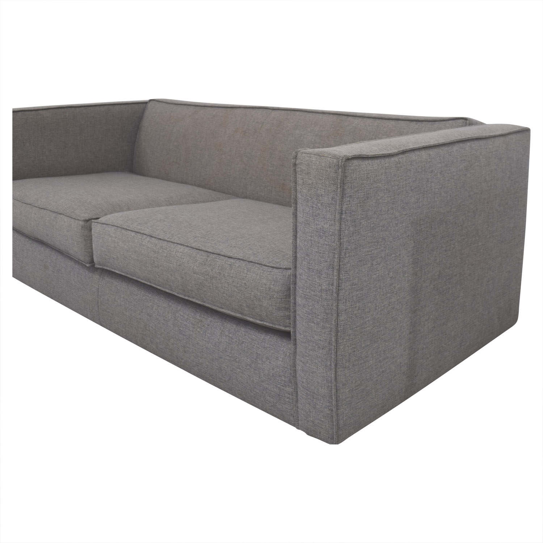 cb2 club sofa ottoman west elm henry quality 60 off grey two cushion sofas