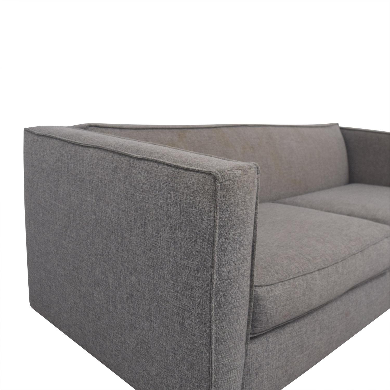 cb2 club sofa ottoman manhattan five seater set 60 off grey two cushion sofas