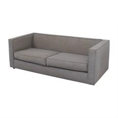Cb2 Club Sofa Ottoman Hobby Lobby 60 Off Grey Two Cushion Sofas