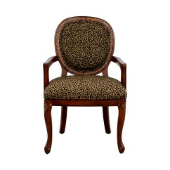 Upholstered Chairs With Wooden Arms Desk Ball Chair Benefits 63 Off Leopard Wood Arm Shop