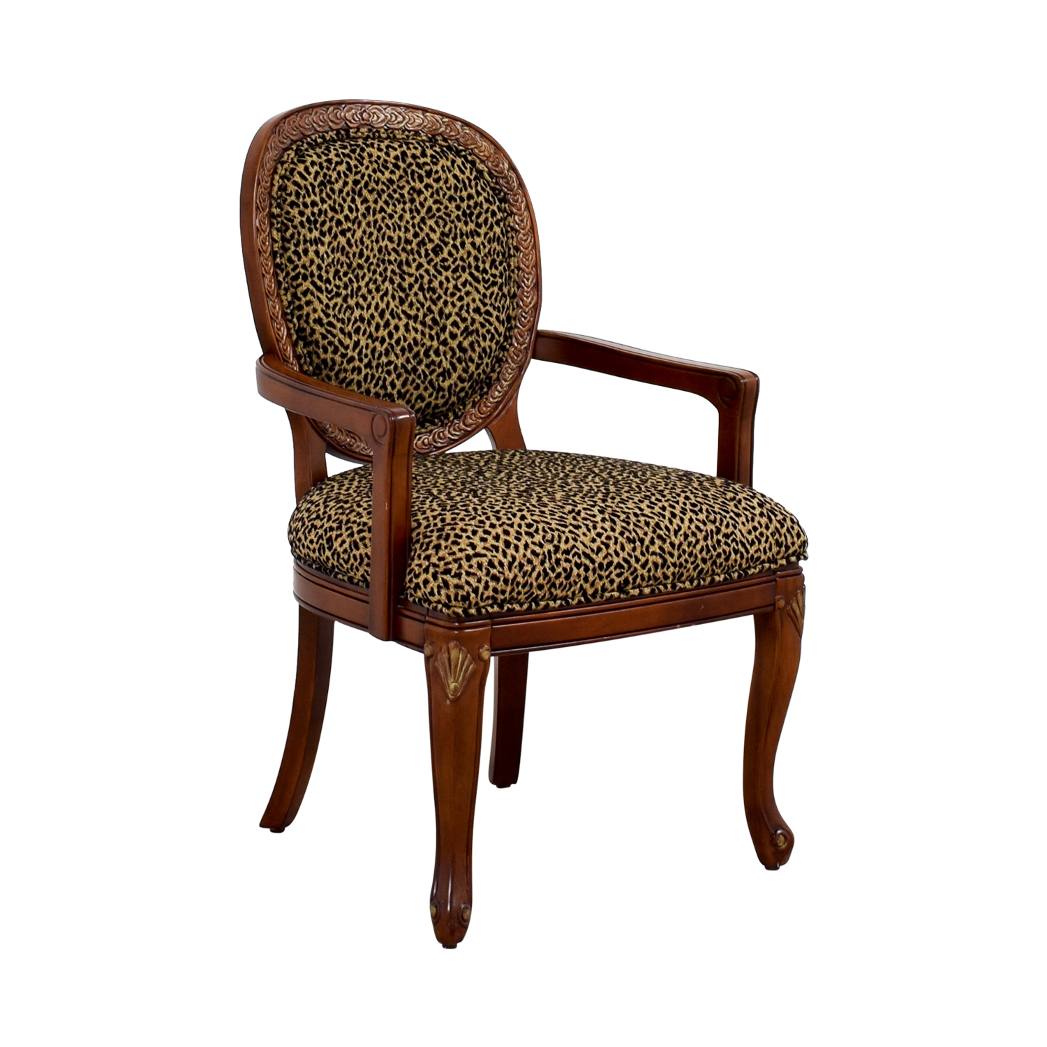 upholstered chairs with wooden arms accent ikea 63 off leopard wood arm chair