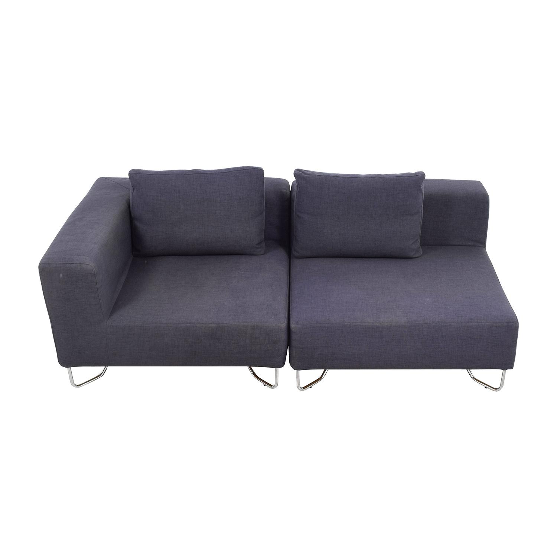 crate and barrel verano sofa smoke sectional covers amazon 57 off davis sofas