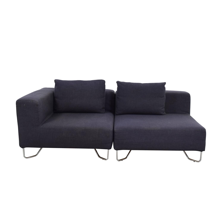 crate and barrel verano sofa smoke extra thick leather 57 off davis sofas