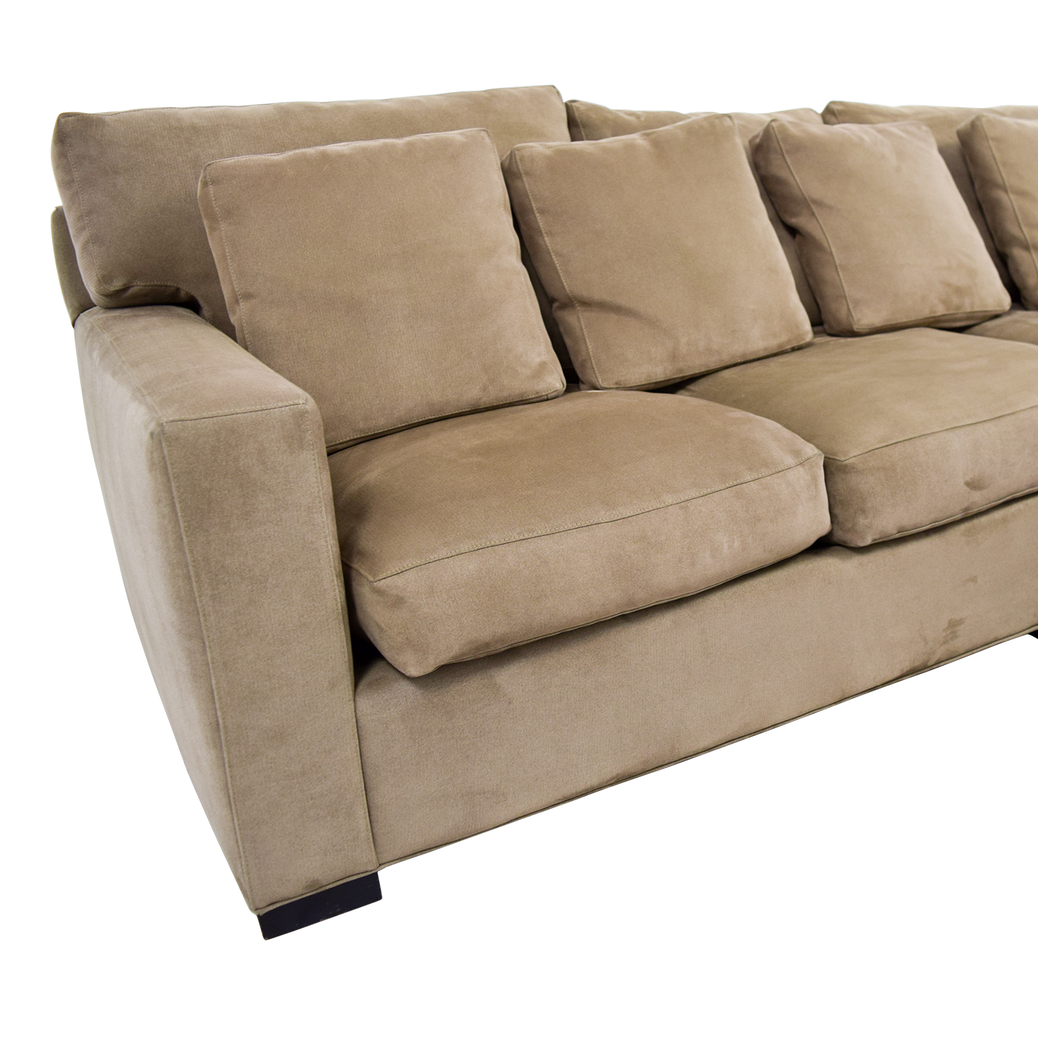 2nd hand sectional sofa sofascore chelsea vs watford 66 off crate and barrel axis tan right arm