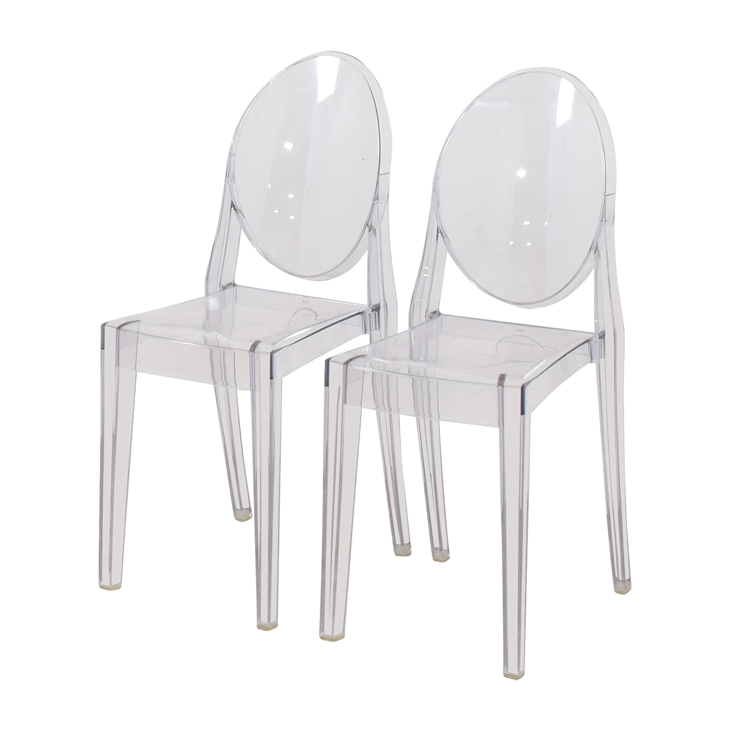 ghost chairs for sale hickory chair sofa fabrics 75 off kartell starck victoria