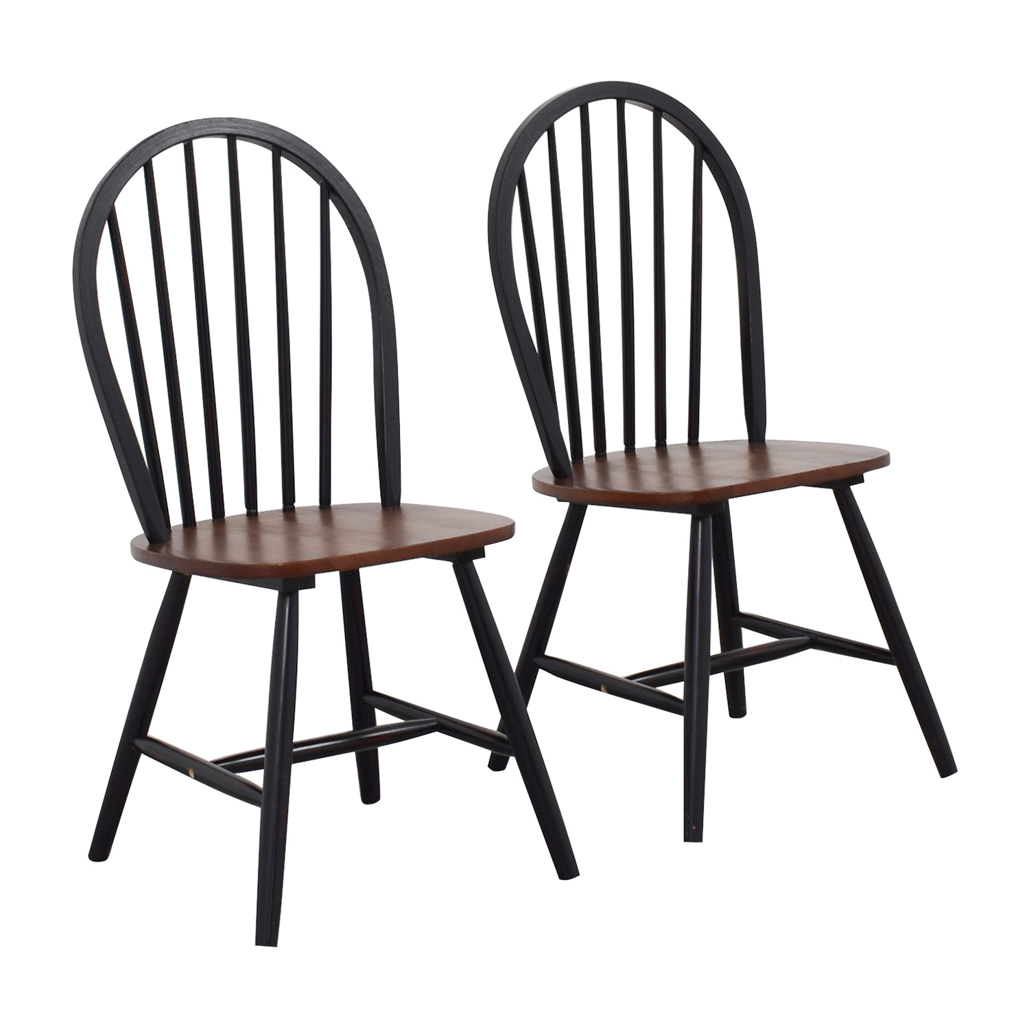 used restaurant chairs sturdy camping chair 83 off two tone wood dining