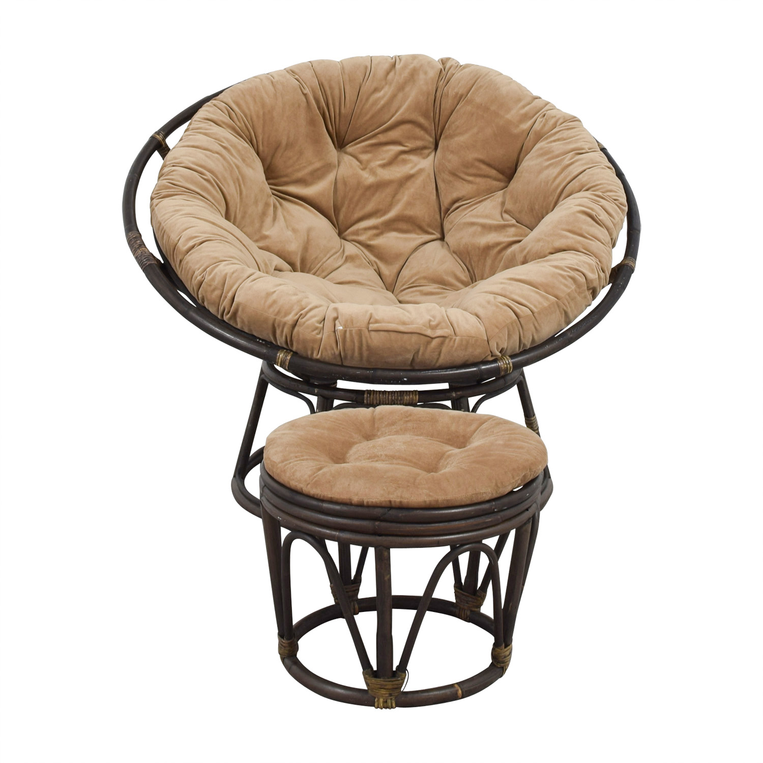 papasan chair ottoman refurbished kitchen table and chairs accent used for sale