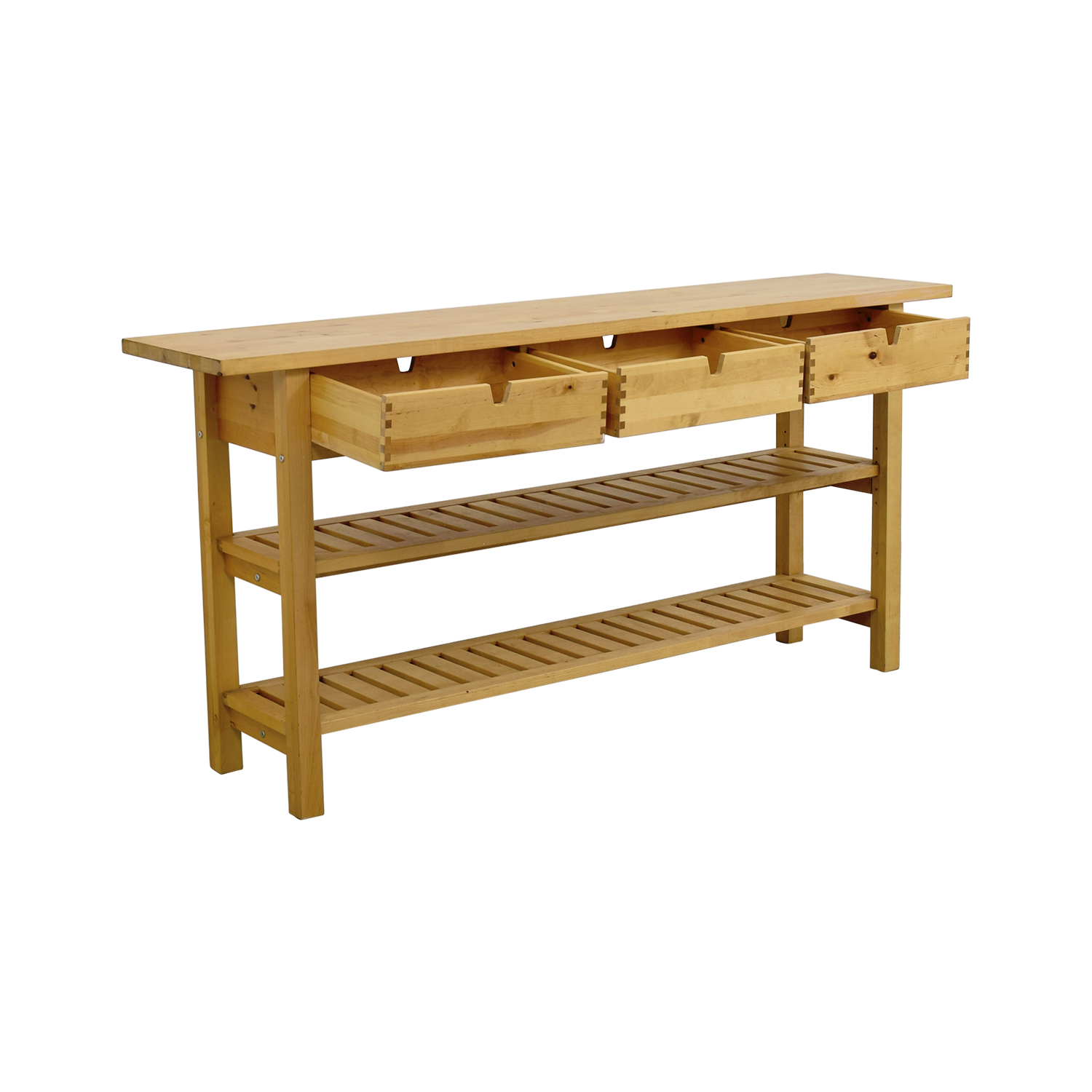 57 OFF  IKEA IKEA Three Drawer Long Console Table with