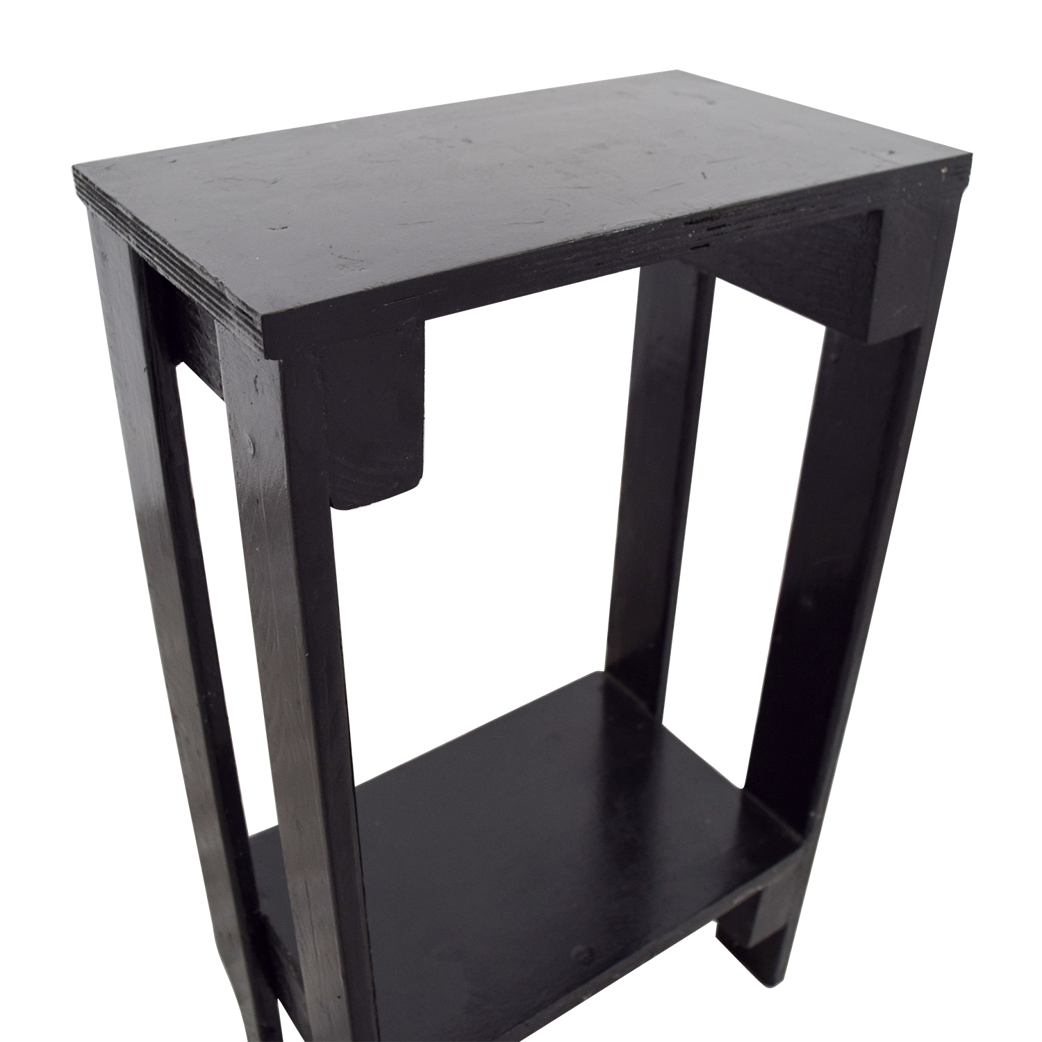 60 Off Small Black Table With Bottom Shelf Tables