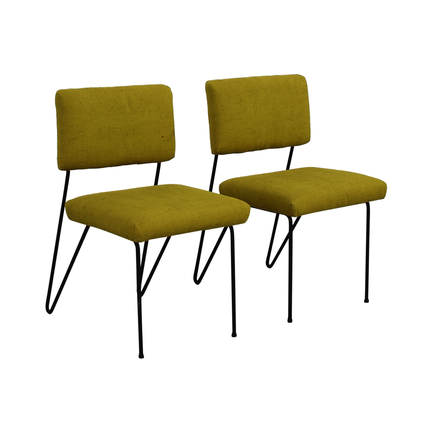 steel chair cost desk ball reviews 63 off furniture masters green fabric