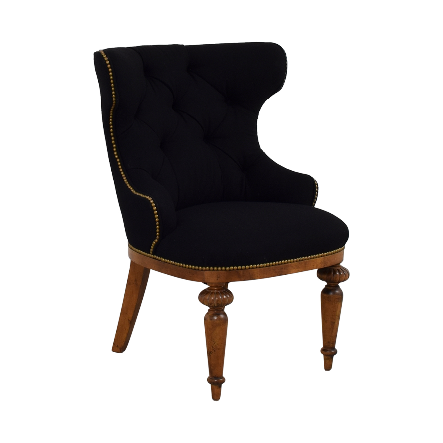 tufted nailhead chair bedroom with rail 89 off furniture masters black