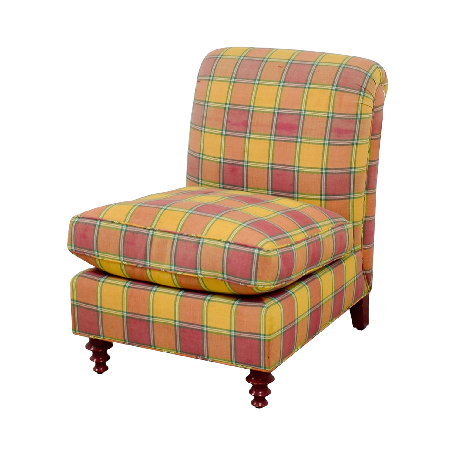 accent chair yellow heavy duty gas lift 90 off furniture masters red and