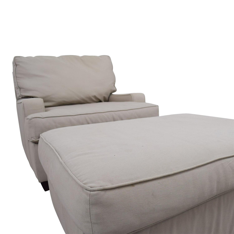 pottery barn chairs outdoor plastic kmart 90 off buckwheat sofa chair