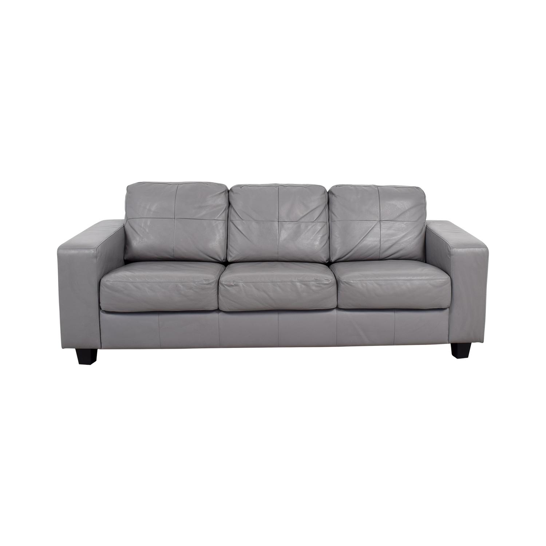ashfield modern light grey fabric sectional sofa friheten bed hacks home