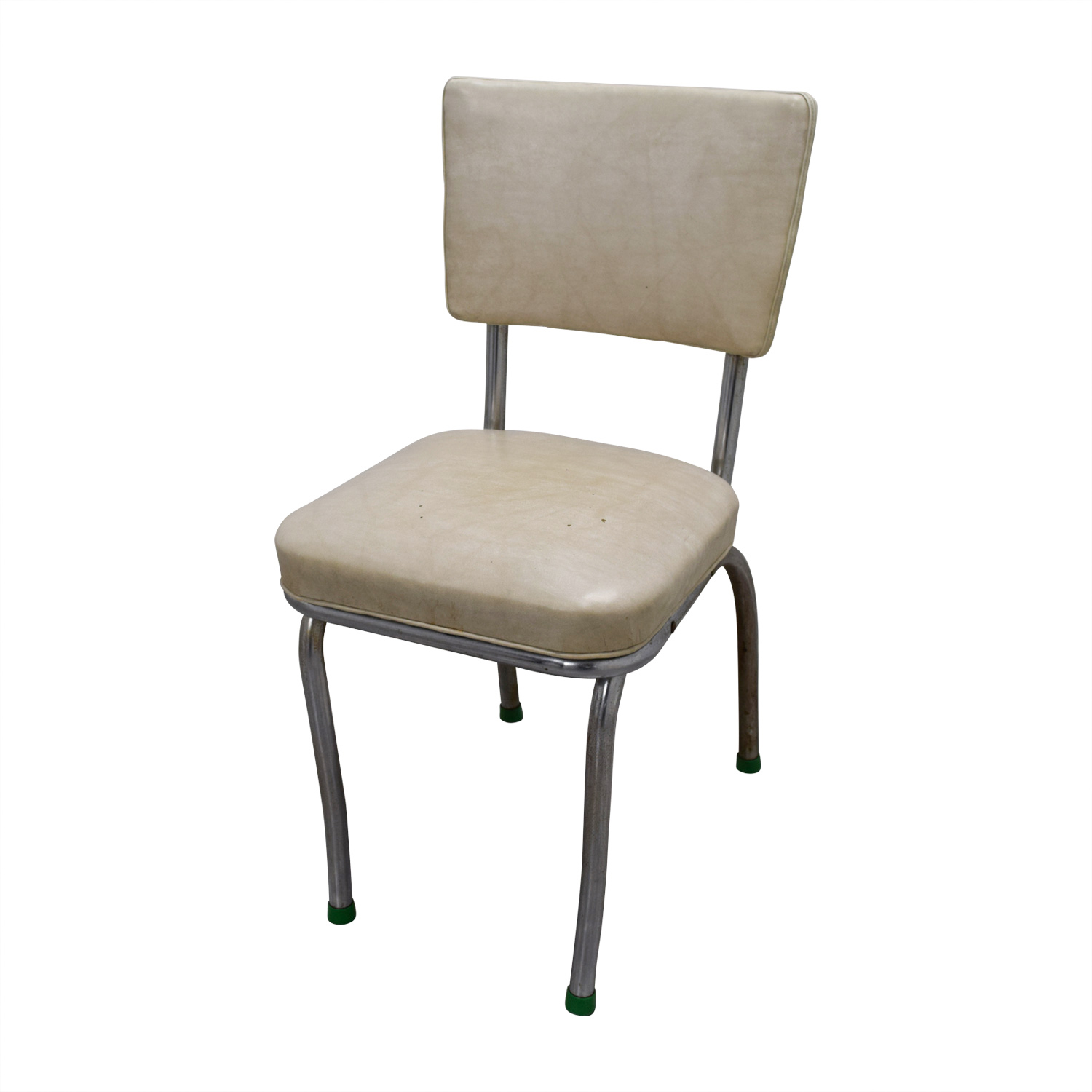 aluminum kitchen chairs round tables 90 off vintage extendable formica top